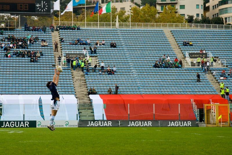 ROMA, ITALIA - 18 DE NOVIEMBRE DE 2006 Test match la Italia-Argentina del rugbi imagen de archivo libre de regalías