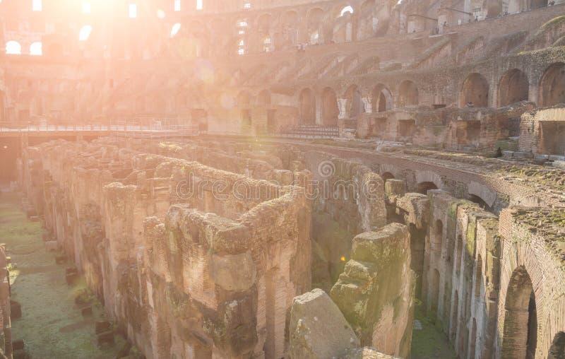 Roma, Italia - 23 febbraio 2019: Dentro di Colosseum a Roma immagini stock libere da diritti