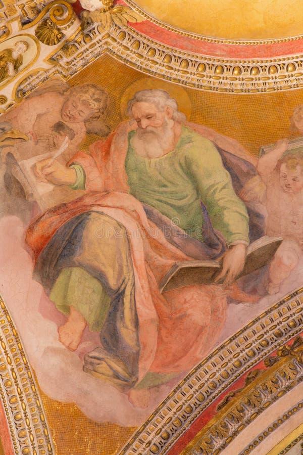 ROMA, ITALIA - 9 MARZO 2016: L'affresco di St Matthew l'evangelista immagini stock