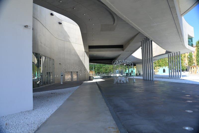Roma, Italia, museo di Maxxi di arte contemporanea immagini stock libere da diritti