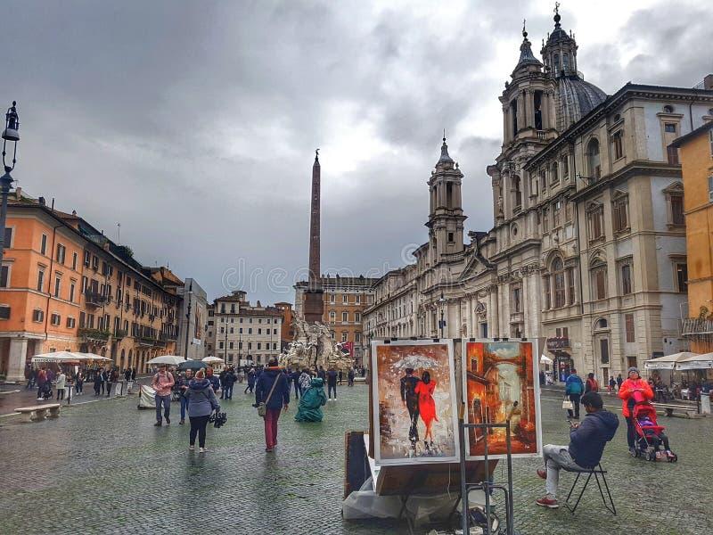 Roma Italia Square Novona royalty-vrije stock fotografie