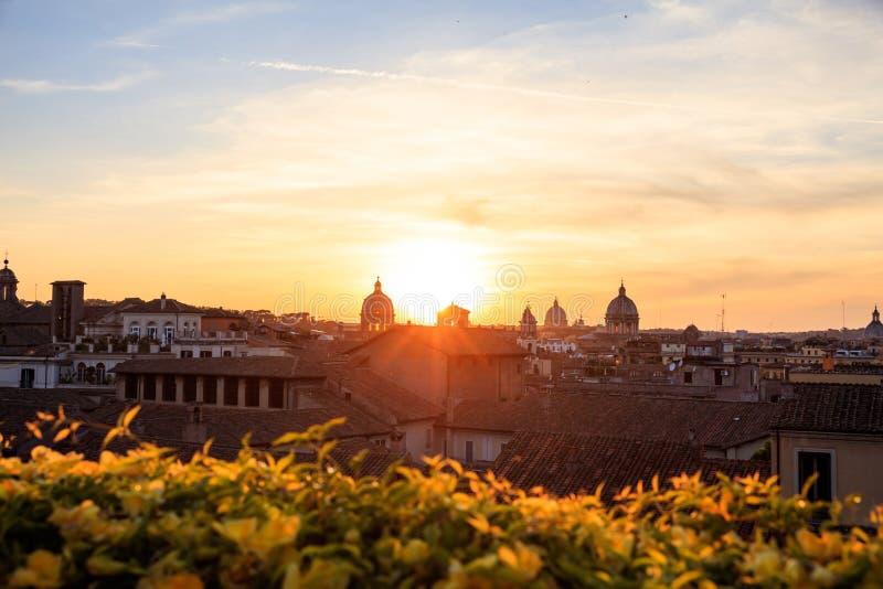 Roma, Italia - visión aérea imágenes de archivo libres de regalías