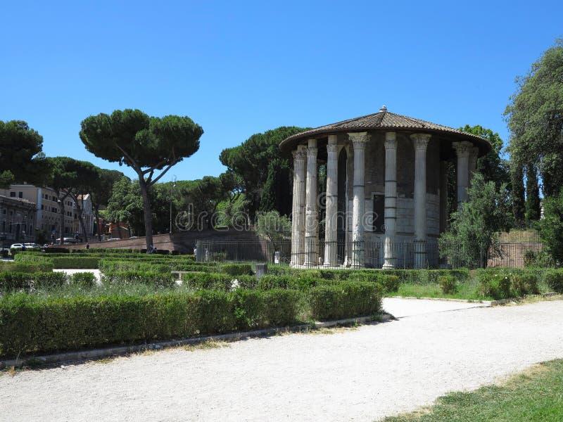 19 06 2017, Roma, Italie : Temple circulaire de forme de Hercules Victor images libres de droits