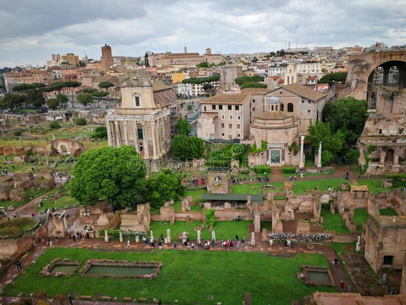 Roma Italy-Monumente stockfoto