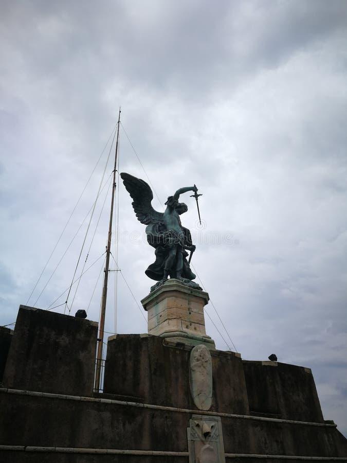 Roma Italy statue stock image