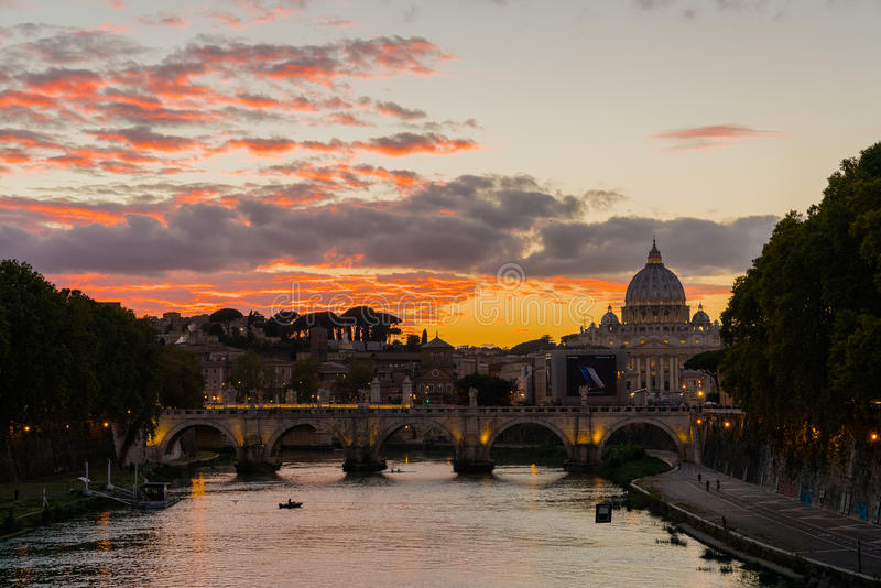 ROMA. Italy sunset the church stock images