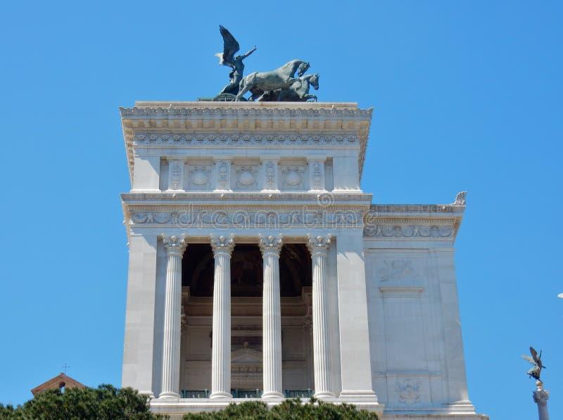 Roma - lado do altar da pátria fotos de stock royalty free