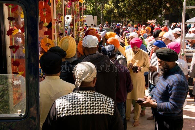 Roma, It?lia - 23 de abril de 2017: Ano novo do indiano das celebra??es fotos de stock