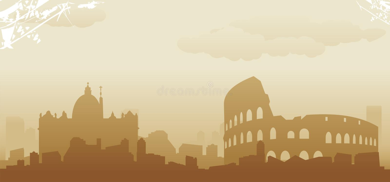 Roma linia horyzontu ilustracja wektor