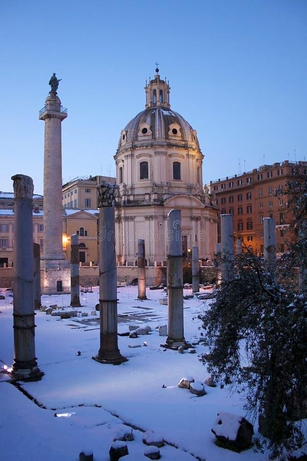 Roma na neve imagens de stock