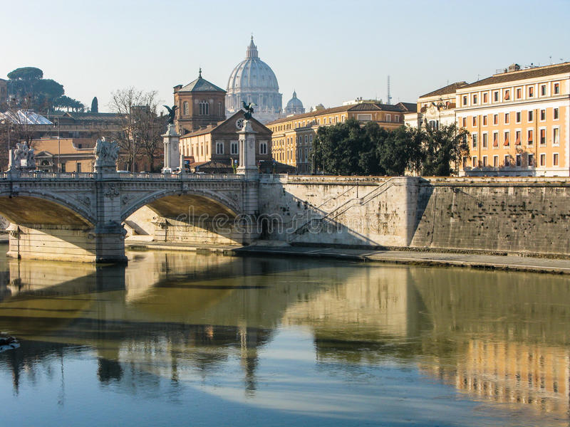 Roma no inverno foto de stock royalty free