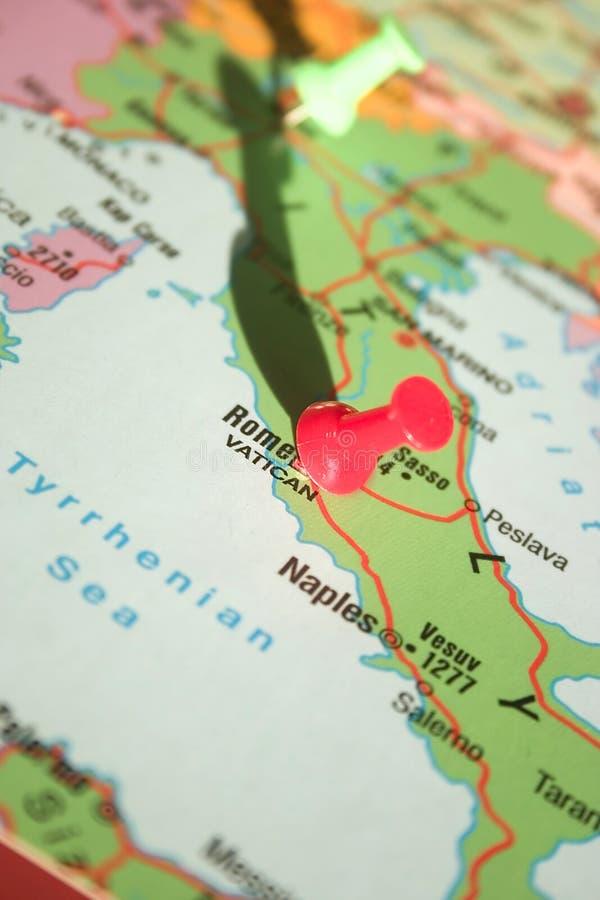 Roma No Mapa Imagens de Stock