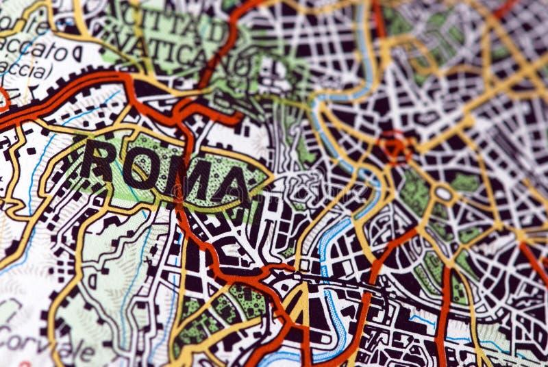 Roma no mapa imagem de stock