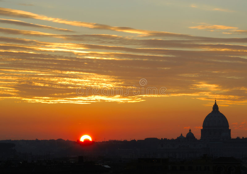 Roma no por do sol fotografia de stock royalty free