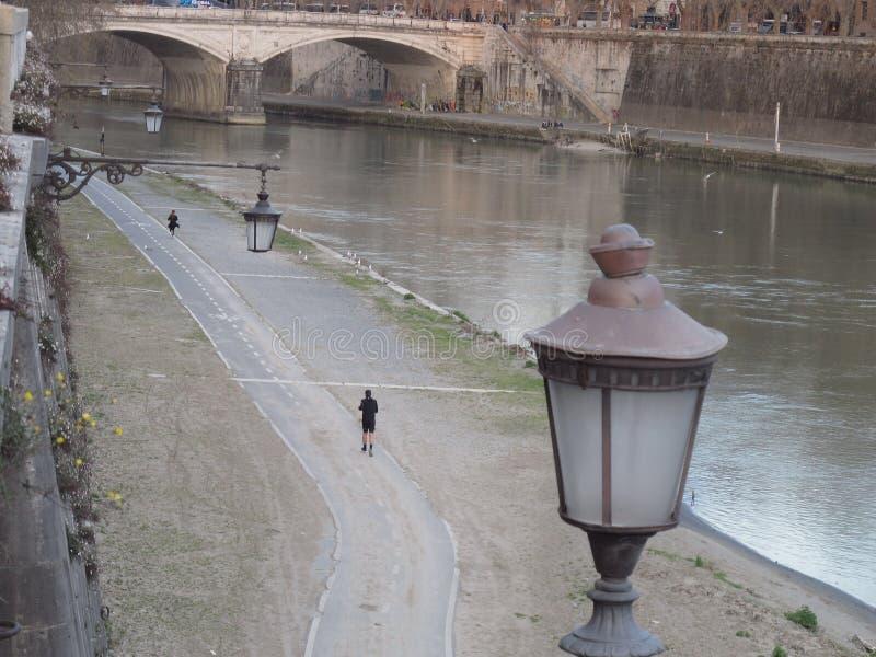 Roma o rio de Tibre fotos de stock royalty free
