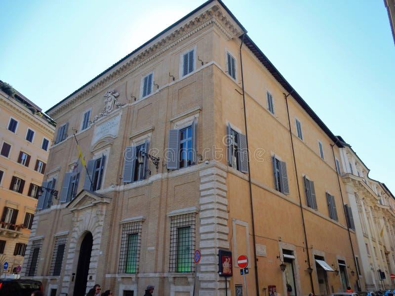 Roma - palazzo di propaganda Fide fotografia stock