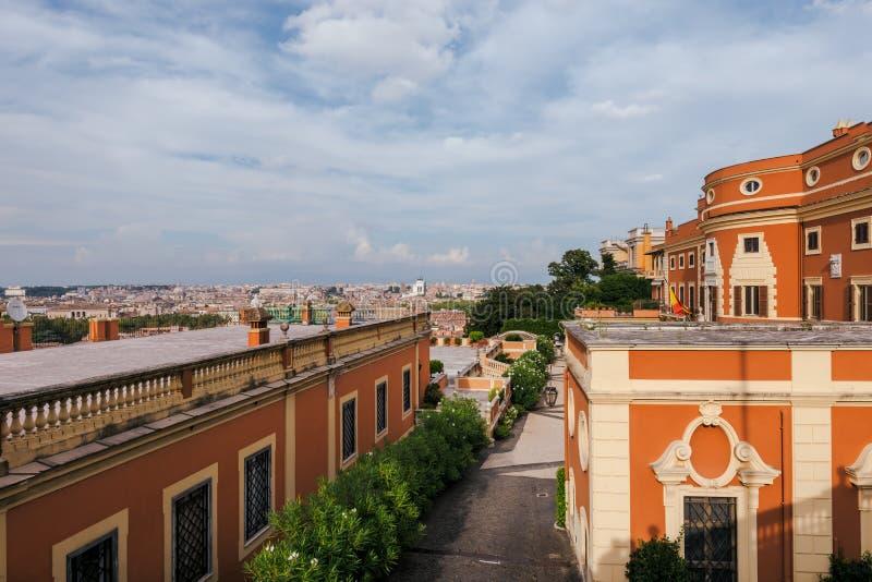 Roma Panorama From Gianicolo Italy Stock Photo Image Of