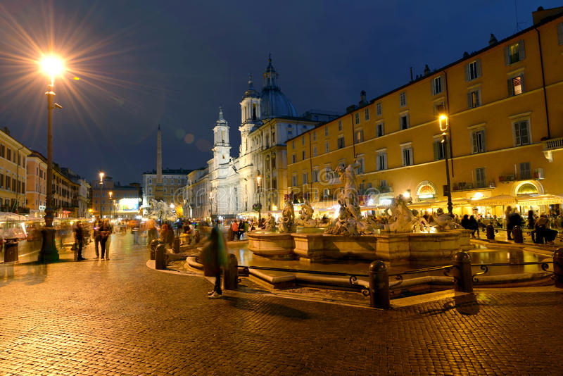 Roma, plaza Navona fotos de archivo libres de regalías