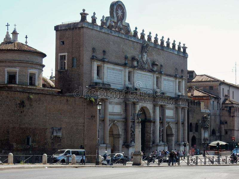 Roma - Porta del Popolo fotos de archivo