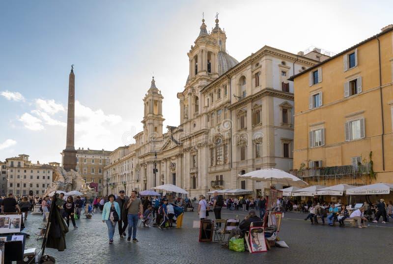 roma Praça Navona imagem de stock