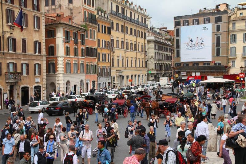 Roma - quadrato spagnolo fotografia stock libera da diritti