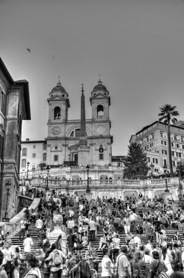 ROMA - 20 SETTEMBRE: La gente che si siede sullo Spagnolo fa un passo su settembre immagine stock