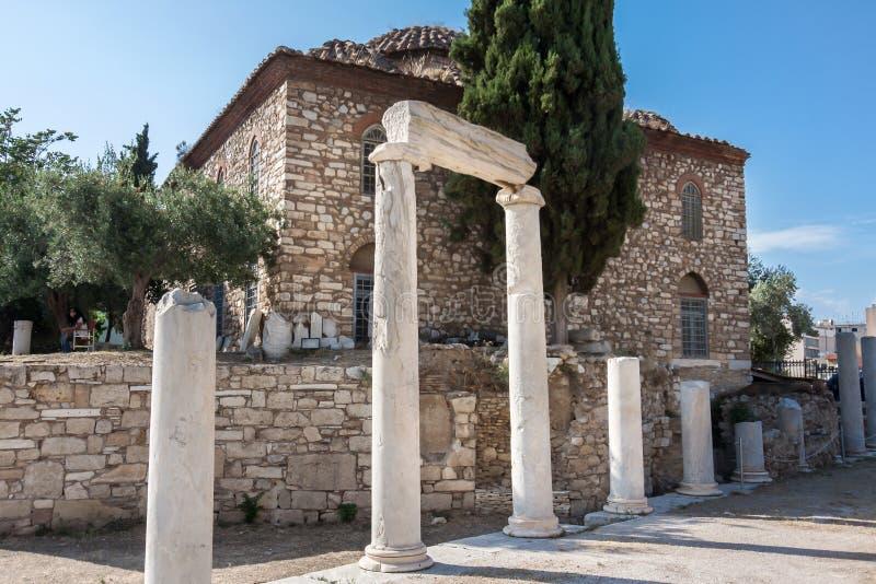 Download Romańska Agora Ateny zdjęcie stock. Obraz złożonej z kolumna - 26871312
