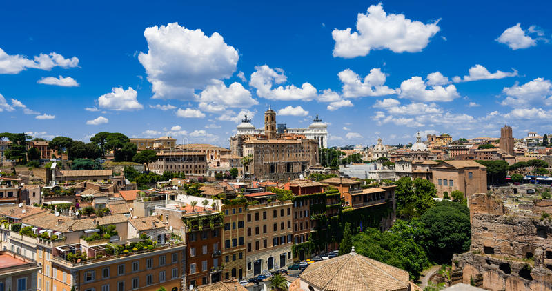 Roma skyline. The skyline of roma ,Italy stock photos