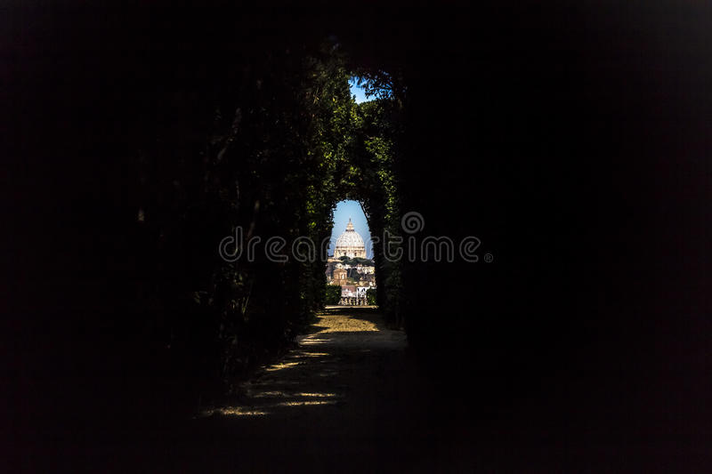 Roma - St. Peter's Basilica in Vatican City stock image