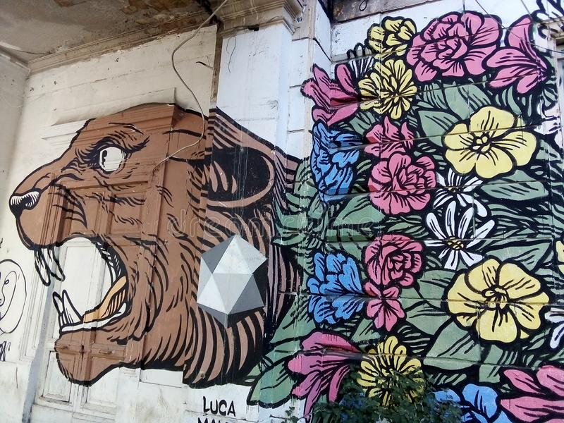 Roma Testaccio Street Art stock foto's