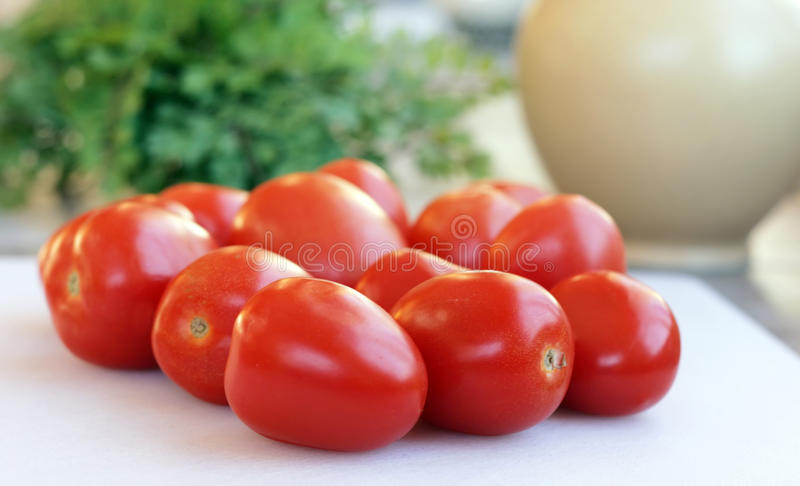 Roma Tomatoes stock image
