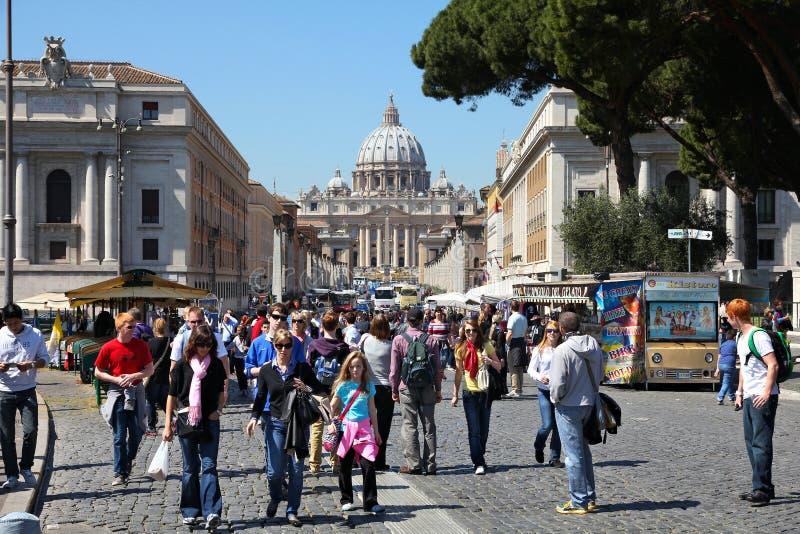 Roma y Vaticano imagenes de archivo