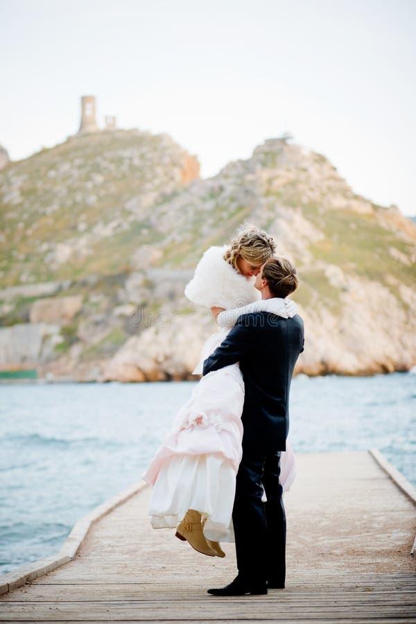 Romaans huwelijk stock foto