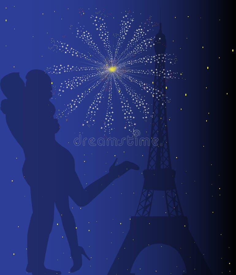 Romaans Parijs royalty-vrije illustratie
