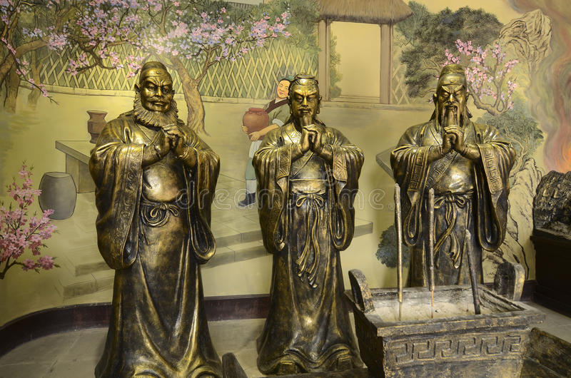 Romaans van de drie koninkrijken royalty-vrije stock foto
