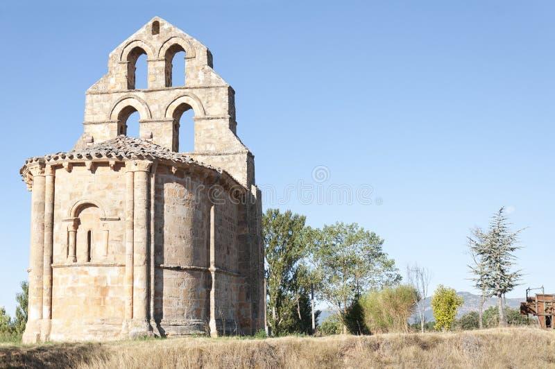 Romaanse kapel royalty-vrije stock afbeeldingen
