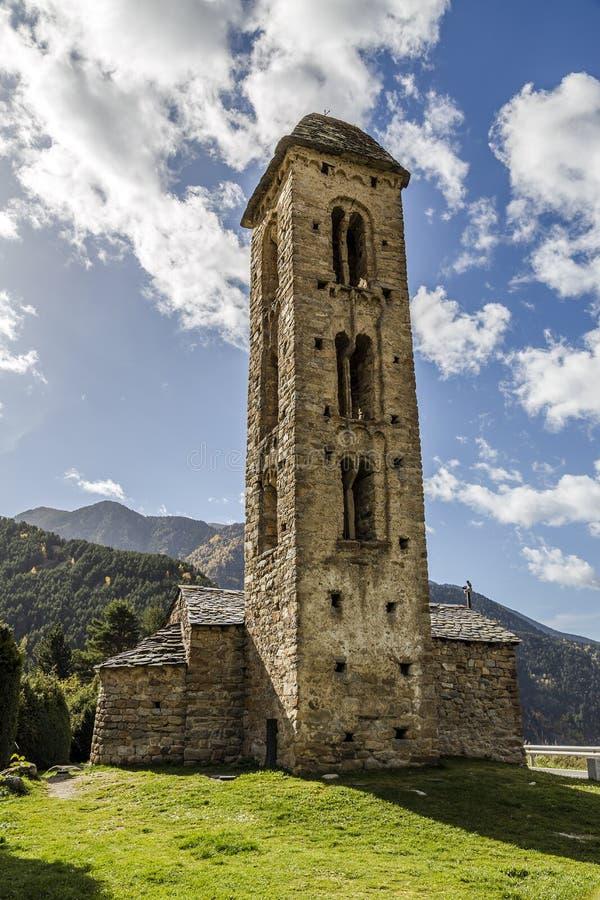 Romaanse kerk Sant Miquel dï ¿ ½ Engolasters, Andorra royalty-vrije stock afbeeldingen
