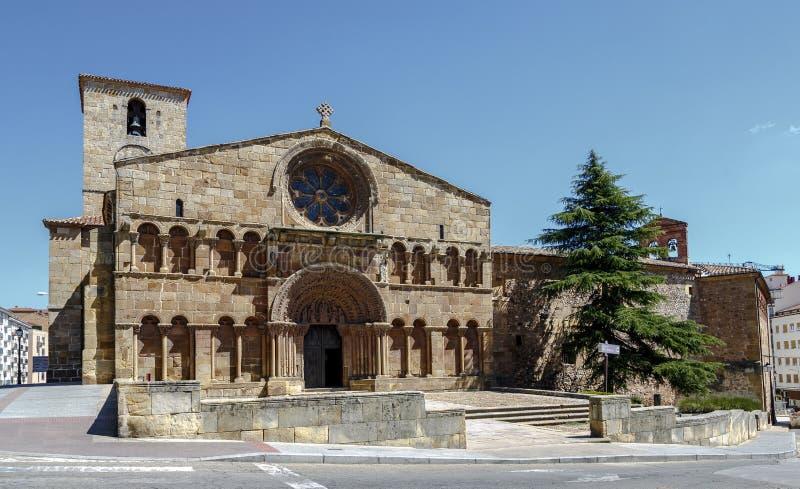 Romaanse kerk van Santo Domingo in Soria, Spanje stock fotografie