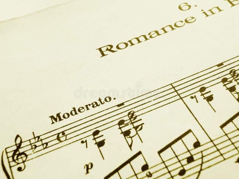 Romaanse muziekscore stock fotografie