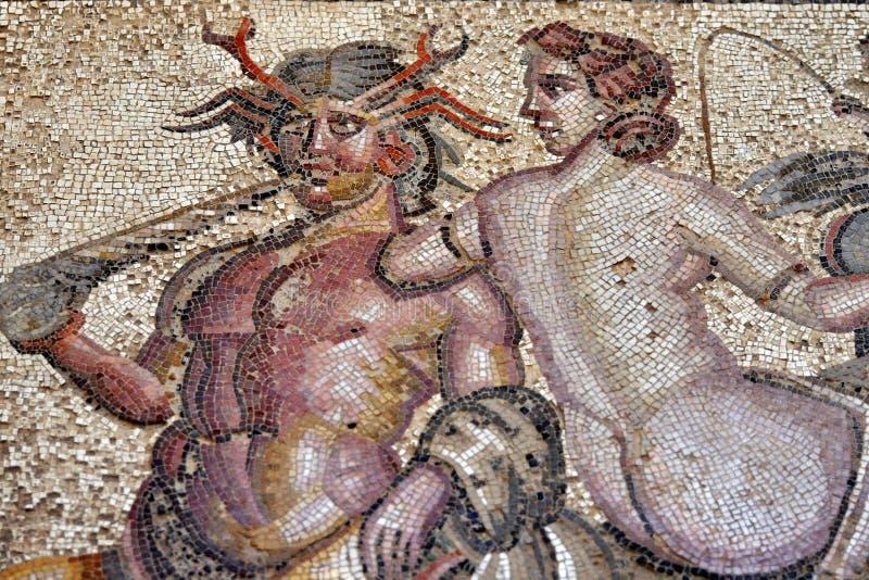 Romain Mosaic, Leptis Magna royalty free stock photos