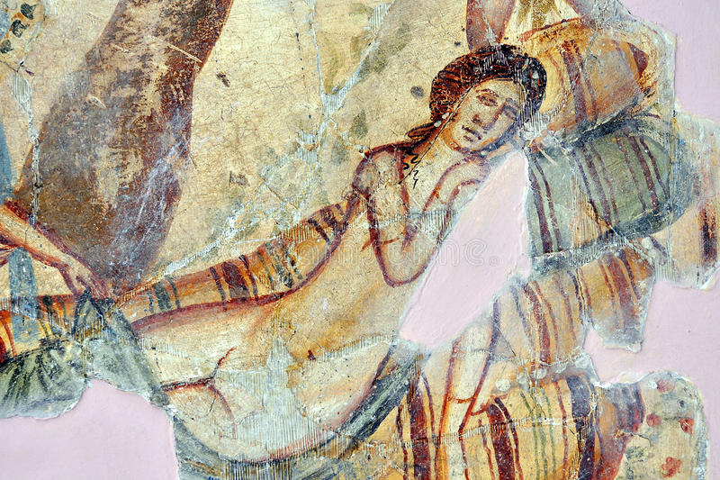 Romain Mosaic, Leptis Magna stock photography