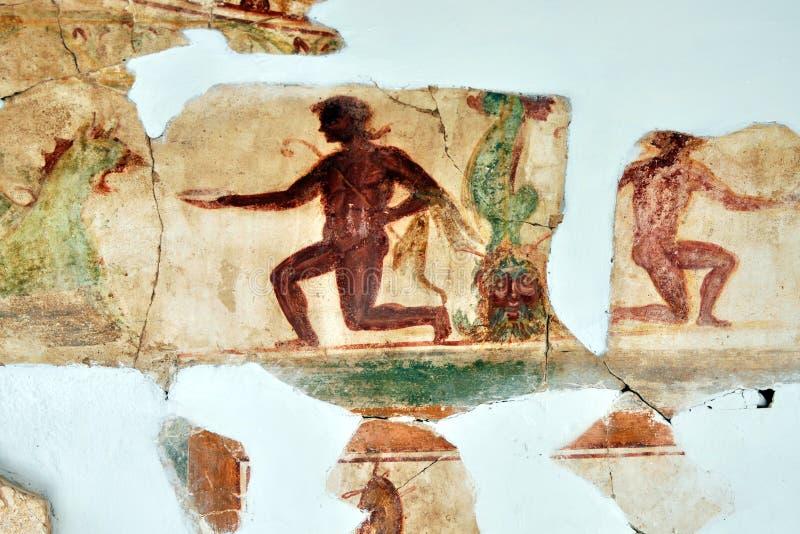 Romain Mosaic, Leptis Magna royalty free stock image