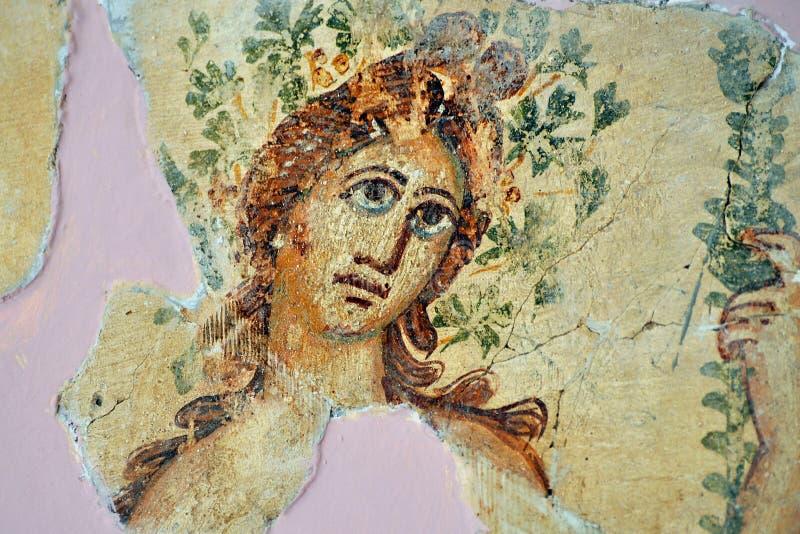 Romain Mosaic, Leptis Magna stock photos