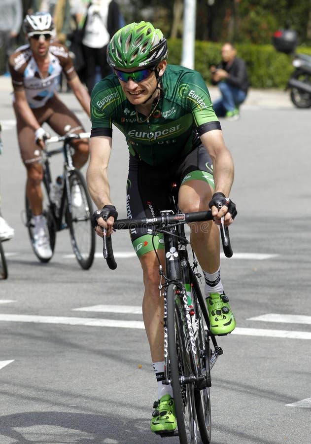 Romain Sicard av det Europcar laget royaltyfria foton
