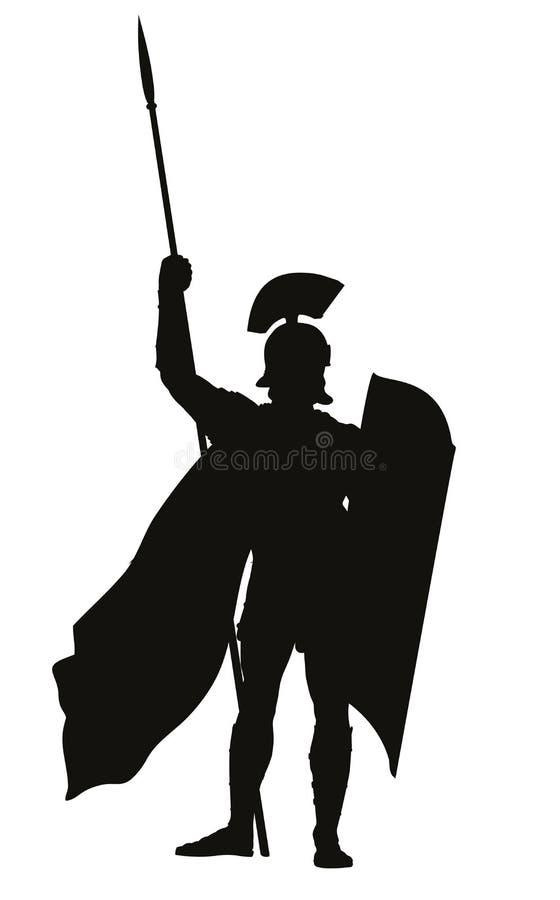 romain Thème de guerriers illustration stock