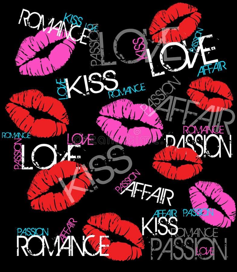 Romains et baiser illustration stock