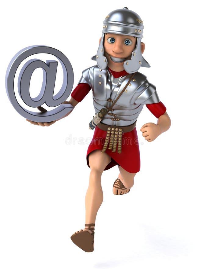 Download Roman żołnierz ilustracji. Ilustracja złożonej z piechota - 53787974