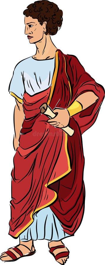 roman ilustração royalty free