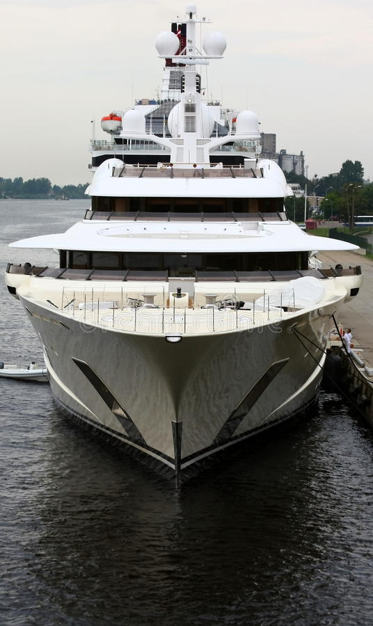 Roman abramovich yacht. royalty free stock images