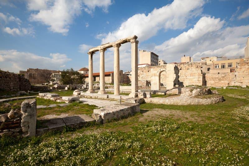 Roman Agora stock afbeeldingen